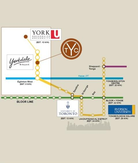 The Yorkdale 2 Downtown Map